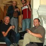 With Richard Senhal, Milan Nikodym and Jiri Zidek